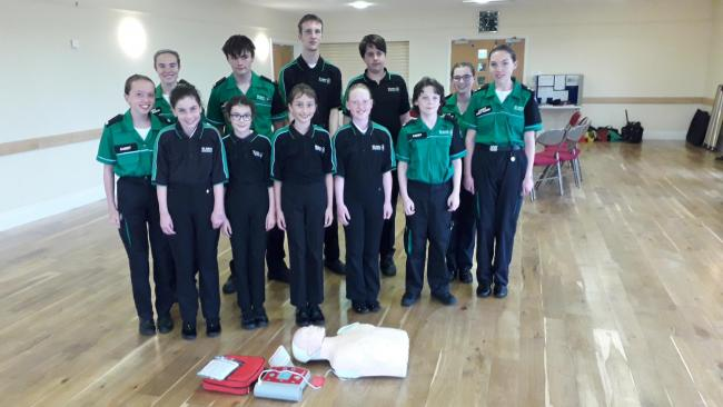 FUNDRAISERS: The local St John's Ambulance cadets in Ilton, with Abi James, far right