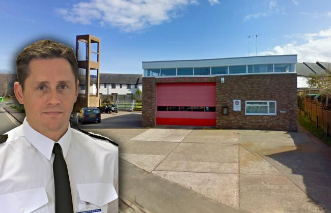 CHANGES: Chief fire officer Lee Howell, and Porlock Fire Station, which could be set to close