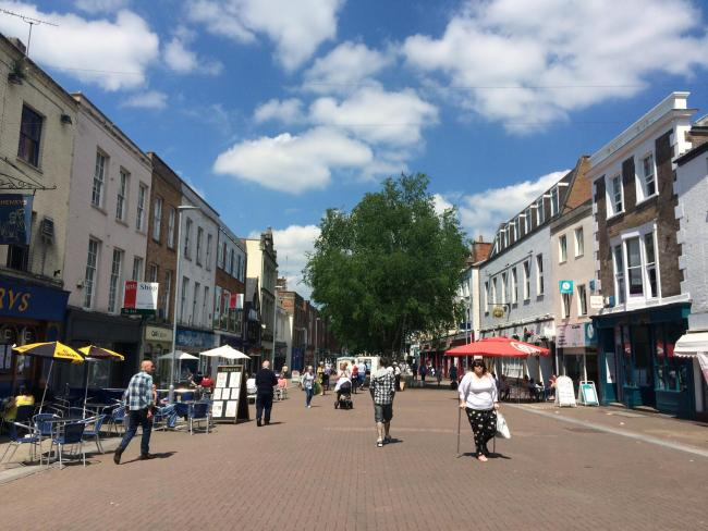 LACKING BUZZ: Taunton High Street