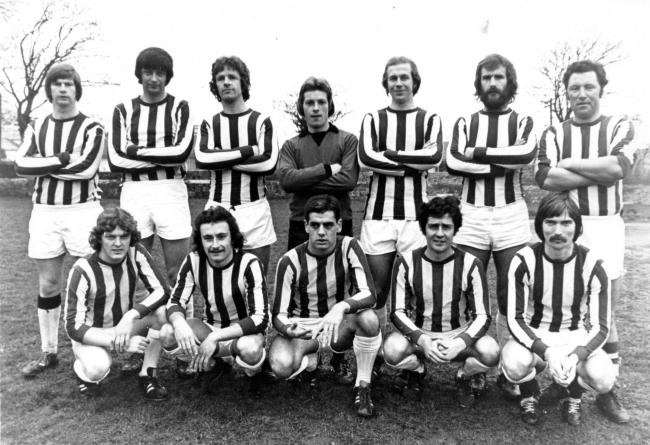 This week's photograph is of Mawnan FC's first team from 1975/76