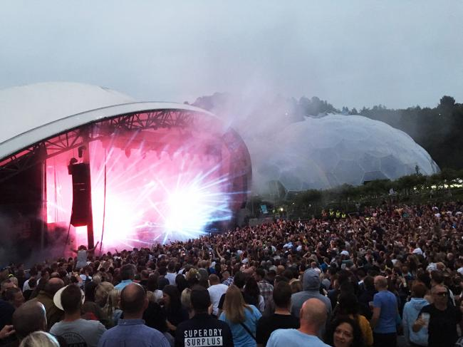 The Chemical Brothers perform at the Eden Project