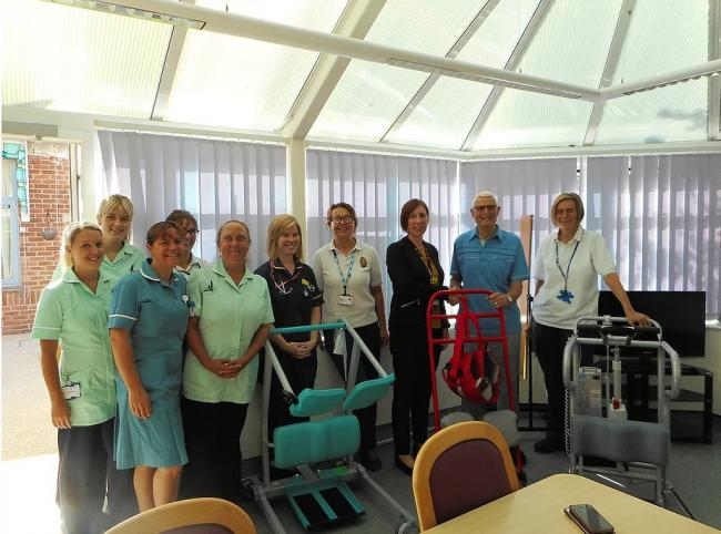 BOOST: The Friends of Burnham-on-Sea Hopsital hand over the new equipment to staff from Burnham-on-Sea Hospital