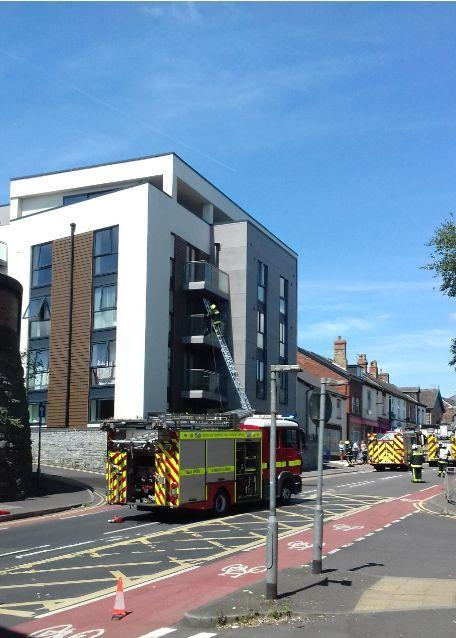 BVLAZE: Fire crews at the scene of the fire in Kingston Road
