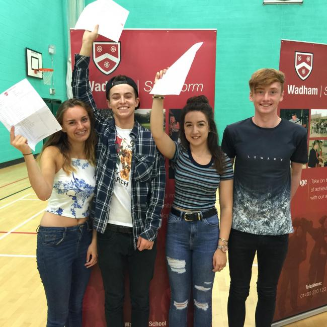 'DELIGHTED': Wadham GCSE pupils celebrating great results