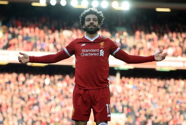 TOP MAN: Fantasy football points hoarder Mo Salah, of Liverpool. Pic: PA