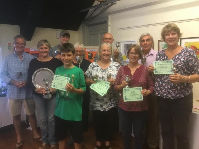 SUCCESSFUL PARTICIPANTS: Cup winners Kingston St Mary Flower Show