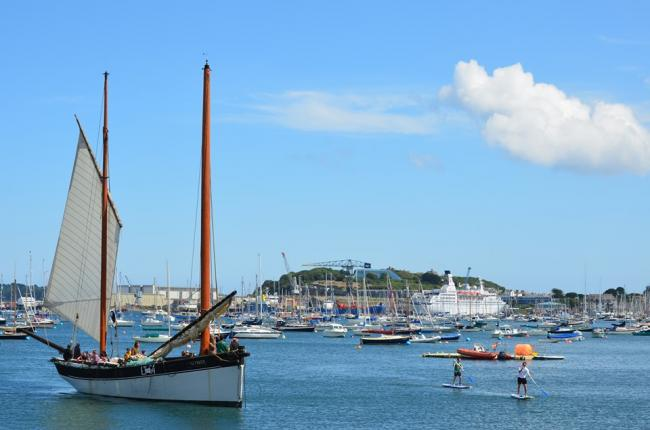 Always something happening in Falmouth, taken by George Cridland