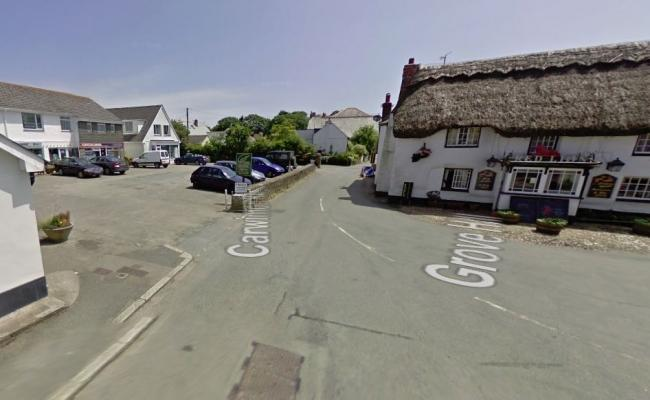 Police say the incident took place near The Square in Mawnan Smith. Photo: Google Street View