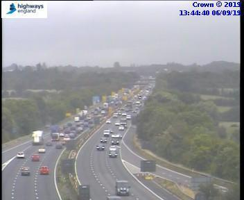 DELAYS: There are long delays on the M5 northbound between J25 and J20