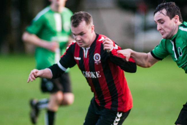 Jake Shaw scored in Penryn Athletic's win over Wendron United reserves. Picture by Colin Higgs