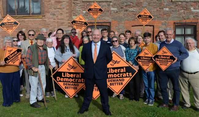 CAMPAIGN: Bill Revans is fighting to become MP for Bridgwater and West Somerset