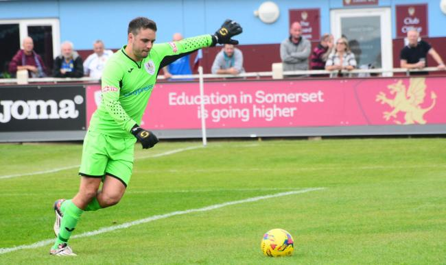 Taunton Town's Lloyd Irish. Pic: Steve Richardson.