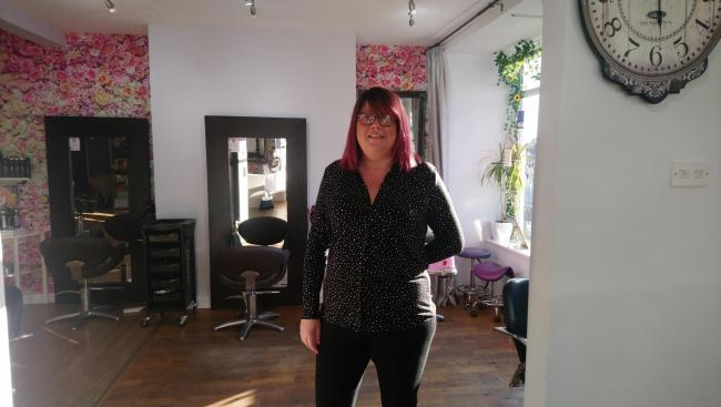 THRILLED: Kerry Smith, owner of Yummy Mummy Hair and Beauty in Station Road