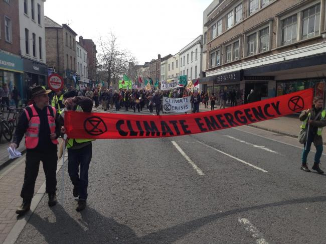 PROTEST: The Extinction Rebellion event in Taunton in April this year