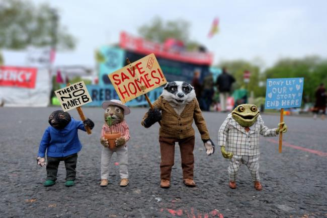 Badger, Ratty, Mole and Toad campaign for a Wilder Future
