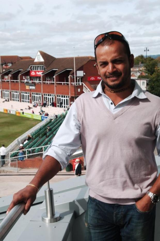 Murali Kartik in his Somerset days.