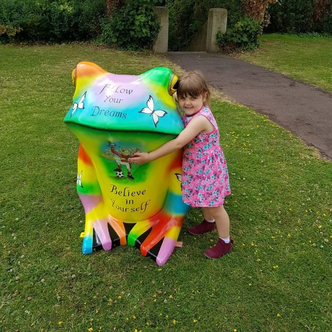 FOLLOW YOUR DREAMS: One of the 22 models on the Taunton Toad Trail