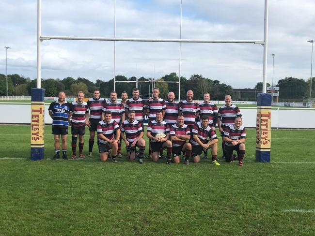 LINE-UP: Taunton 4th XV (L-R), back row - Scott Laver, Tom Stanley, Simon Cook, Rob Harwood, Mark Laver (water boy), Jack Tolman, James Porcas, Richard Watts, Rob Cooling, Mike Harrison, Damian Pollard; front - Chris Wand, Rob Miller, Neil Symons (c), Lee