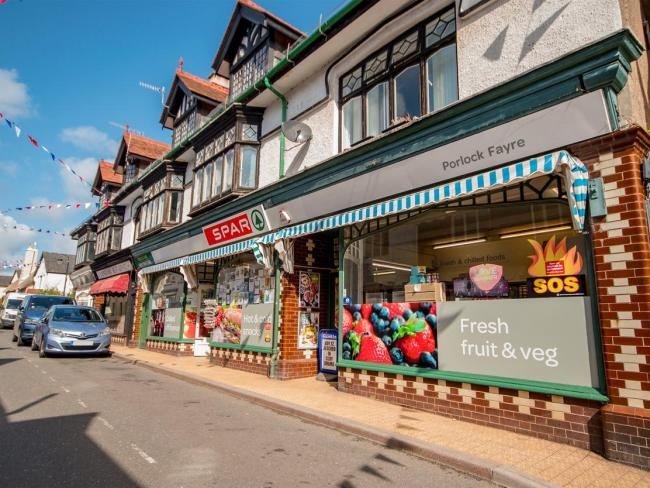 ON THE MARKET: The Spar shop in Porlock