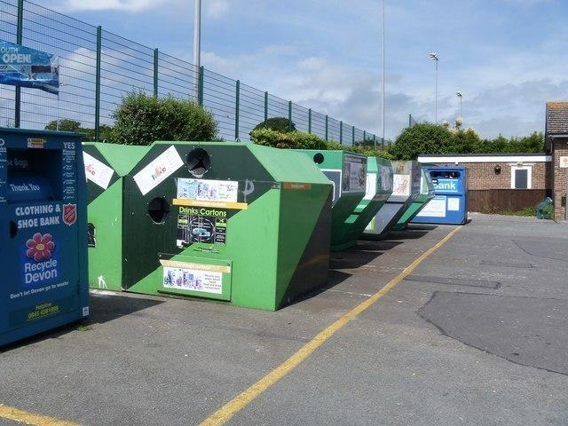 Stock image of recycling banks – Cornwall Council is set to remove them from sites around the county