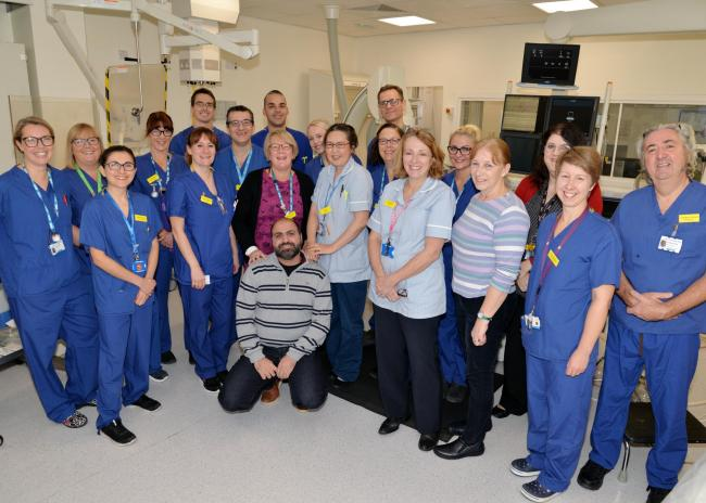 LIFESAVERS: Some of the emergency heart service team at Musgrove Park Hospital