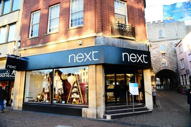 CLOSING: The Next store in Taunton town centre