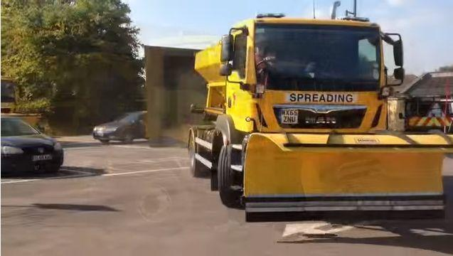 PREPARED: Gritting lorries ready for snow and ice