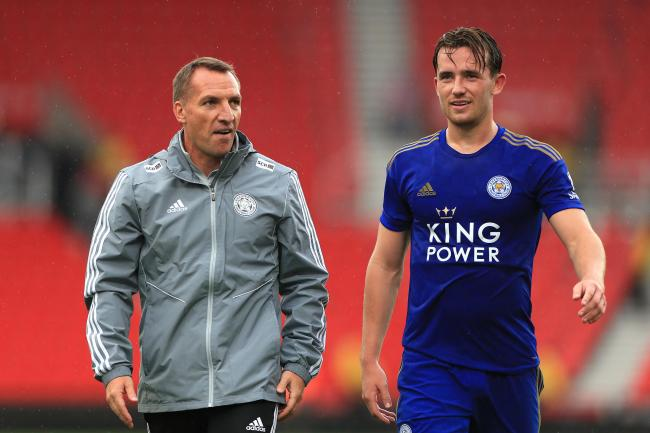 Leicester manager Brendan Rodgers, left, has been forced to internally discipline Ben Chilwell, right, and Hamza Choudhury