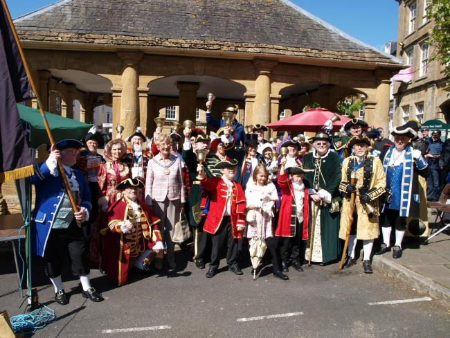 COMPETITION: The Ilminster Town Criers competition is pat of Somerset Day