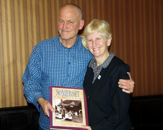PRESENTATION: Vicki Nash with secretary Dave Chapple. PICTURE: Kate Pearce