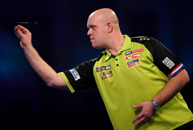 CHAMPION: Michael van Gerwen. Pic: Tess Derry/PA Wire