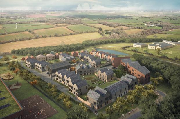 CGI of how the Langarth Garden Village could look when complete