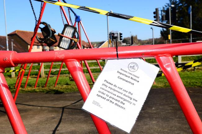 Children's play equipment taped off in bid to stop Covid-19 spread