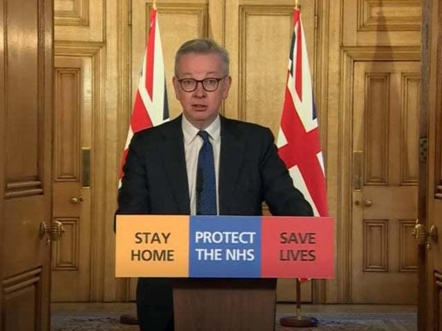 Michael Gove addressing the country on Friday evening
