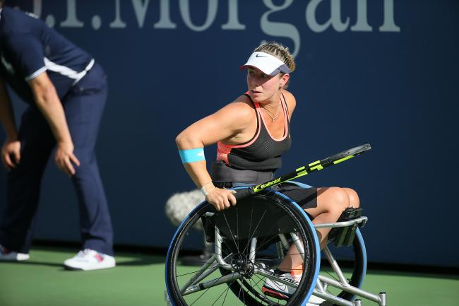 Lucy Shuker in action. Pic: Tennis Foundation