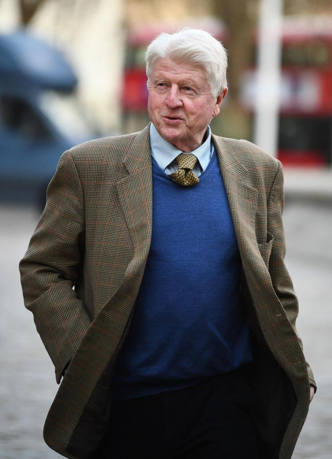 Stanley Johnson during a visit to Taunton. Archive image