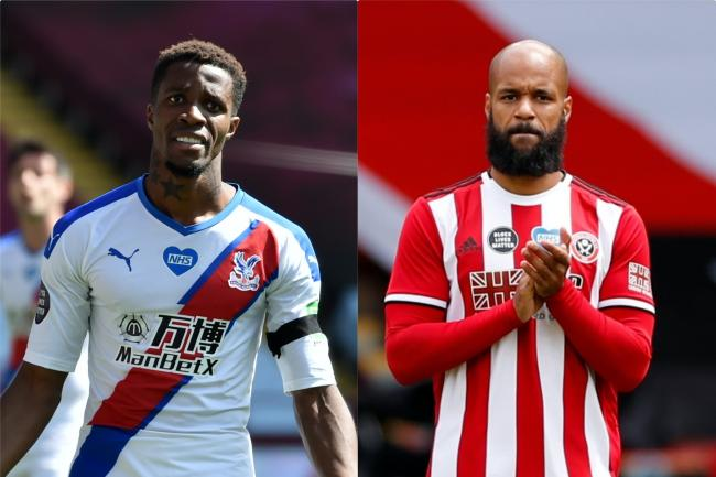 Wilfried Zaha and David McGoldrick