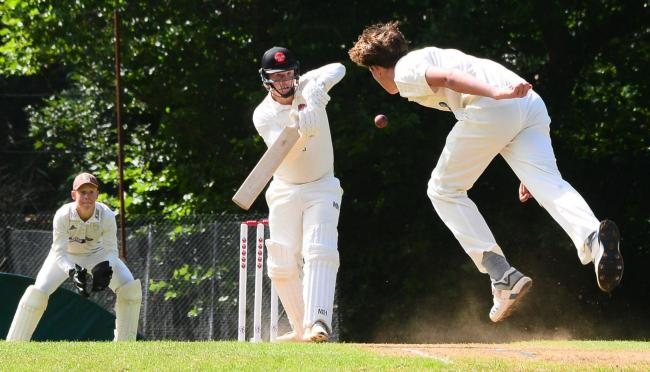 TAKING FLIGHT: Action from Wellington v Taunton St Andrews last weekend (pic: Steve Richardson)