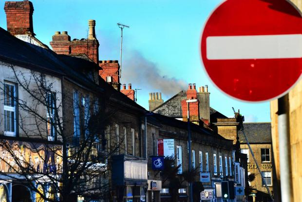 This is The West Country: FIRE: At the derelict building in market Street, Crewkerne