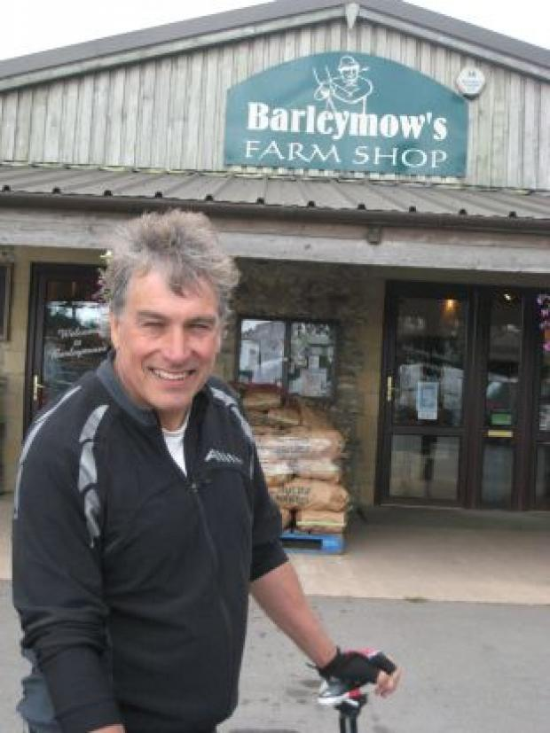 This is The West Country: BBC sports presenter John Inverdale during the Great British Bike Ride