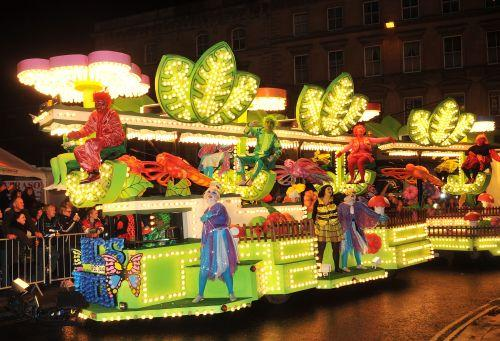 One of the many carnival carts on display at Bridgwater Carnival