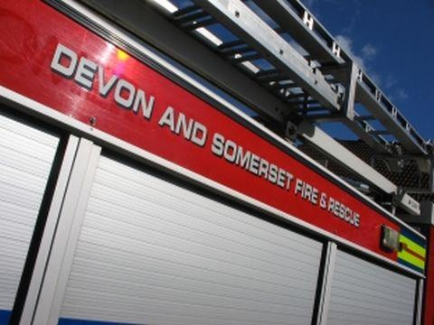 Passengers evacuate burning National Express coach in Taunton