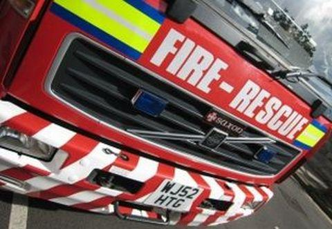Crews tackle burning vehicle on A39 at Bilbrook
