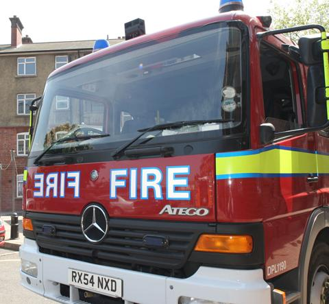 Fire crews called to house blaze in Highbridge