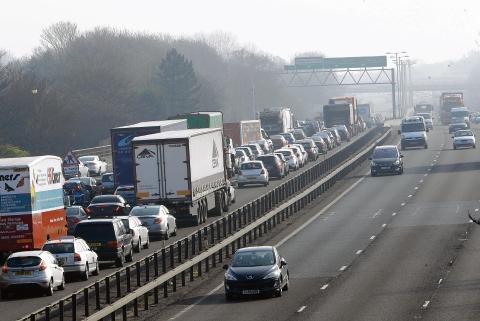 Tailbacks near M5
