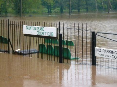 Vivary Park and Taunton Deane cricket ground victim to the floods