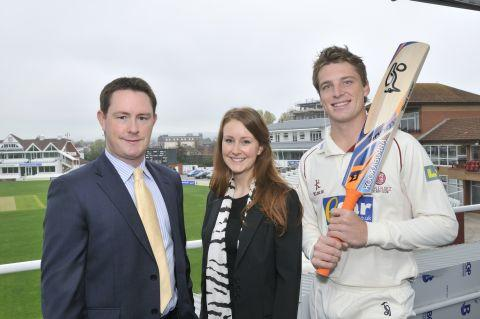 Lee Cooper, Samantha Cooper and Jos Buttler