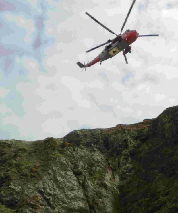 Perran Sands cliff rescue drama
