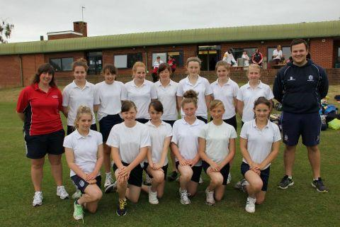 The winning Haygrove girls cricket team. PHOTO: submitted