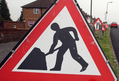Weather hits Burnham road repairs